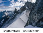 climbers or alpinist on a knife ... | Shutterstock . vector #1206326284