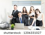 group of successful accountants ... | Shutterstock . vector #1206331027