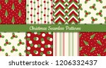 collection of christmas... | Shutterstock .eps vector #1206332437