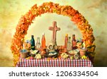 traditional mexican day of the... | Shutterstock . vector #1206334504