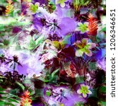 tropical pattern floral exotic... | Shutterstock . vector #1206346651