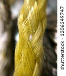 weathered yellow braided...   Shutterstock . vector #1206349747