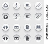 icons for web on white buttons. ... | Shutterstock .eps vector #120635659