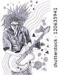 illustration guitarist | Shutterstock . vector #120635941