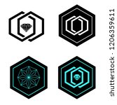 vector logo design elements set ... | Shutterstock .eps vector #1206359611