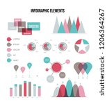 modern data visualisation... | Shutterstock .eps vector #1206364267