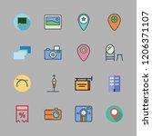 frame icon set. vector set... | Shutterstock .eps vector #1206371107