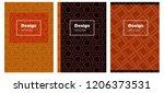 dark orange vector brochure for ...