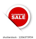 red vector banner clearance sale | Shutterstock .eps vector #1206373954
