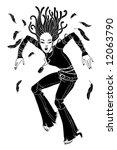 dancing girl | Shutterstock .eps vector #12063790
