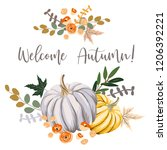 welcome autumn design template... | Shutterstock .eps vector #1206392221