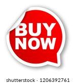 red vector banner buy now | Shutterstock .eps vector #1206392761
