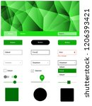 light green vector wireframe...