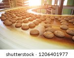 automatic bakery production... | Shutterstock . vector #1206401977