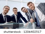 group of business partners... | Shutterstock . vector #1206402517