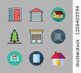 exterior icon set. vector set... | Shutterstock .eps vector #1206403594