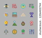 golden icon set. vector set... | Shutterstock .eps vector #1206403744