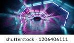 Bright Modern Futuristic Alien...