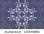 illustration of retro blue... | Shutterstock . vector #120640885
