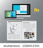 corporate booklet or... | Shutterstock .eps vector #1206411541