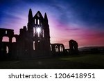Whitby Abbey With Light Shing...