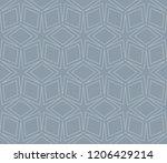 vector geometric seamless... | Shutterstock .eps vector #1206429214