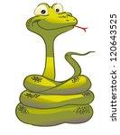 funny snake | Shutterstock .eps vector #120643525