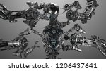 Futuristic Robot Man Or Cyborg...