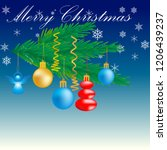 happy christmas  happy all in... | Shutterstock .eps vector #1206439237