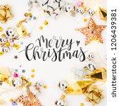 christmas frame. christmas...   Shutterstock . vector #1206439381