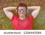 lifestyle. happy attractive...   Shutterstock . vector #1206443584