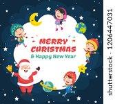vector illustration of christmas   Shutterstock .eps vector #1206447031