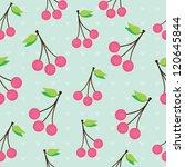 cherry  seamless pattern | Shutterstock .eps vector #120645844
