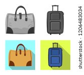 vector design of suitcase and... | Shutterstock .eps vector #1206483034