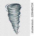 natural disater tonrado vector... | Shutterstock .eps vector #1206486724