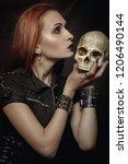 Heavy Metal Girl With Skull...