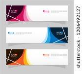 vector abstract banner design...   Shutterstock .eps vector #1206492127