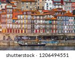 ancient city of porto with old... | Shutterstock . vector #1206494551