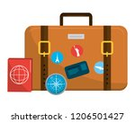 travel luggage cartoon | Shutterstock .eps vector #1206501427