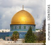 The Mousque Of Al Aqsa  Dome...