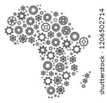 map of africa created with gray ... | Shutterstock .eps vector #1206502714