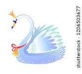 beautiful swan. christmas... | Shutterstock .eps vector #1206503677