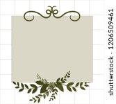vector template invitation for... | Shutterstock .eps vector #1206509461