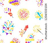bang party and celebration of... | Shutterstock .eps vector #1206533104