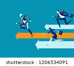 robot competition human worker... | Shutterstock .eps vector #1206534091