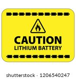 a lithium ion or lithium metal... | Shutterstock .eps vector #1206540247