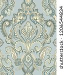 baroque damask pattern ... | Shutterstock . vector #1206544834