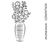 line drawing of flowers  nature ... | Shutterstock .eps vector #1206547654