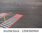 airport road marking with... | Shutterstock . vector #1206560464