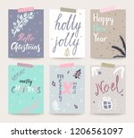 set of christmas and happy new... | Shutterstock .eps vector #1206561097